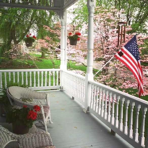 Enjoy the porch at The Claiborne House Bed and breakfast in Rocky Mount Va - where to stay in Rocky Mount