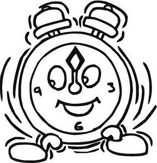Reloj Despertador Para Colorear 4 Dibujo