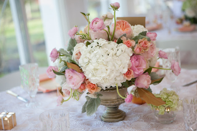 peach+orange+salmon+pink+pastel+shabby+chic+summer+spring+tea+garden+party+victorian+rebel+with+a+camera+wedding+bride+groom+centerpeice+cake+ruffle+ruffles+2 - Detail Spotlight: Peach & Gold