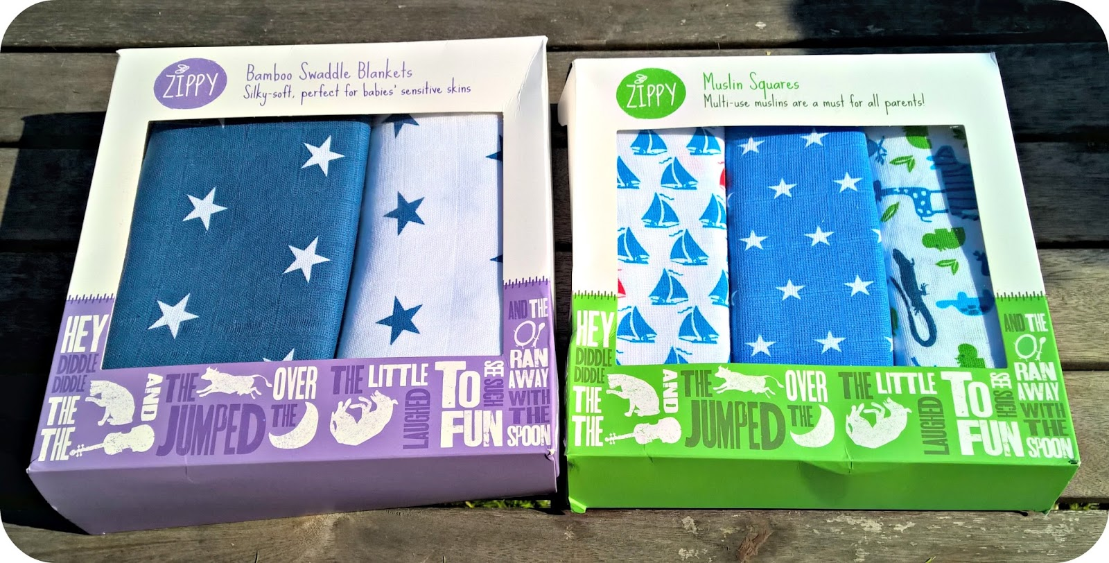 Zippy Swaddle Blankets and Muslin Squares - Review and Giveaway