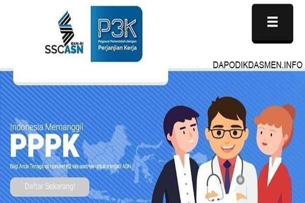 Tata Cara dan Alur Pendaftaran PPPK / P3K di ssp3k.bkn.go.id