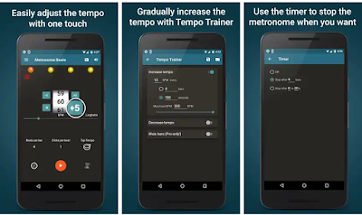تحميل تطبيق Metronome Beats ضوابط لزيادة وتقليل الإيقاع بزيادات صغيرة بلمسة واحدة