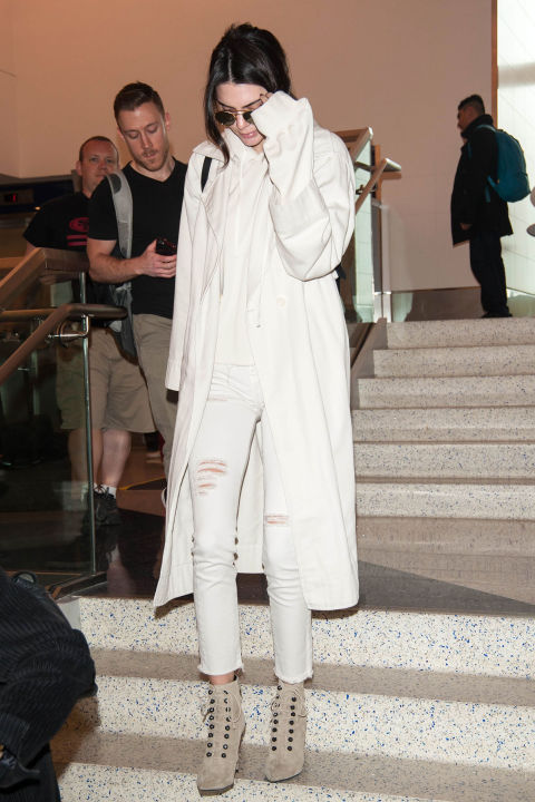 Kendall Jenner Street Style White Pants