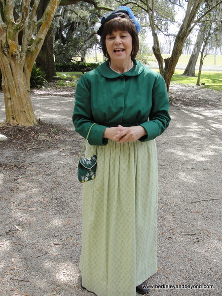 costumed guide at Destrehan Plantation in Destrehan, Louisiana