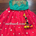 Red Mirror work Lehenga Blouse