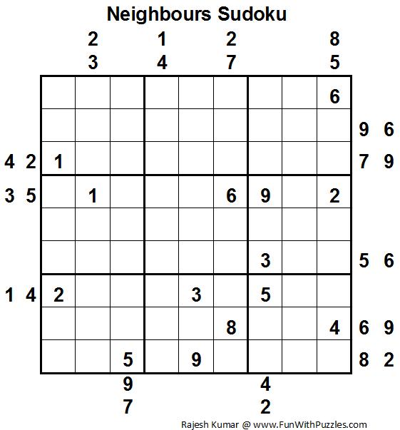 Neighbours Sudoku (Daily Sudoku League #83)