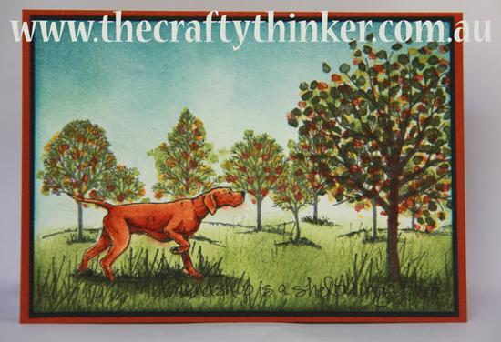 SU, Sheltering Tree, Watercolouring, handmade card, combining stamp sets