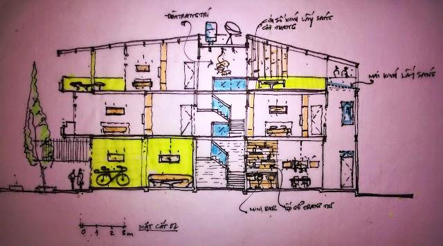 Thiết kế cải tạo nhà ở phường Thảo Điền, quận 2.