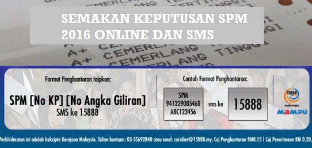 Keputusan SPM 2016 Online