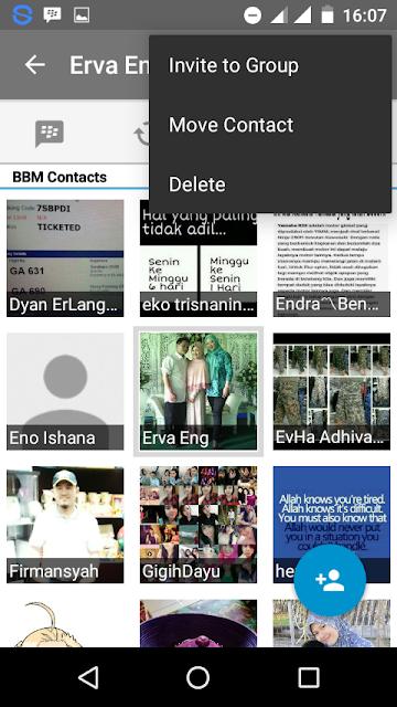 Cara Menghapus (Delete) Contact BBM 2