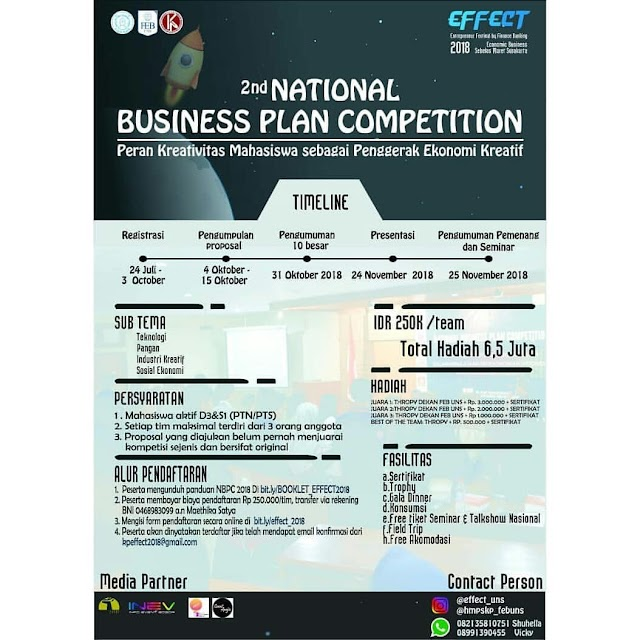 Lomba Business Plan Nasional 2018 di UNS