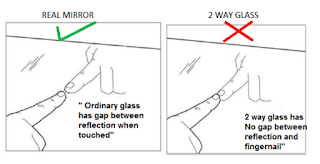 Two-way mirror detecting