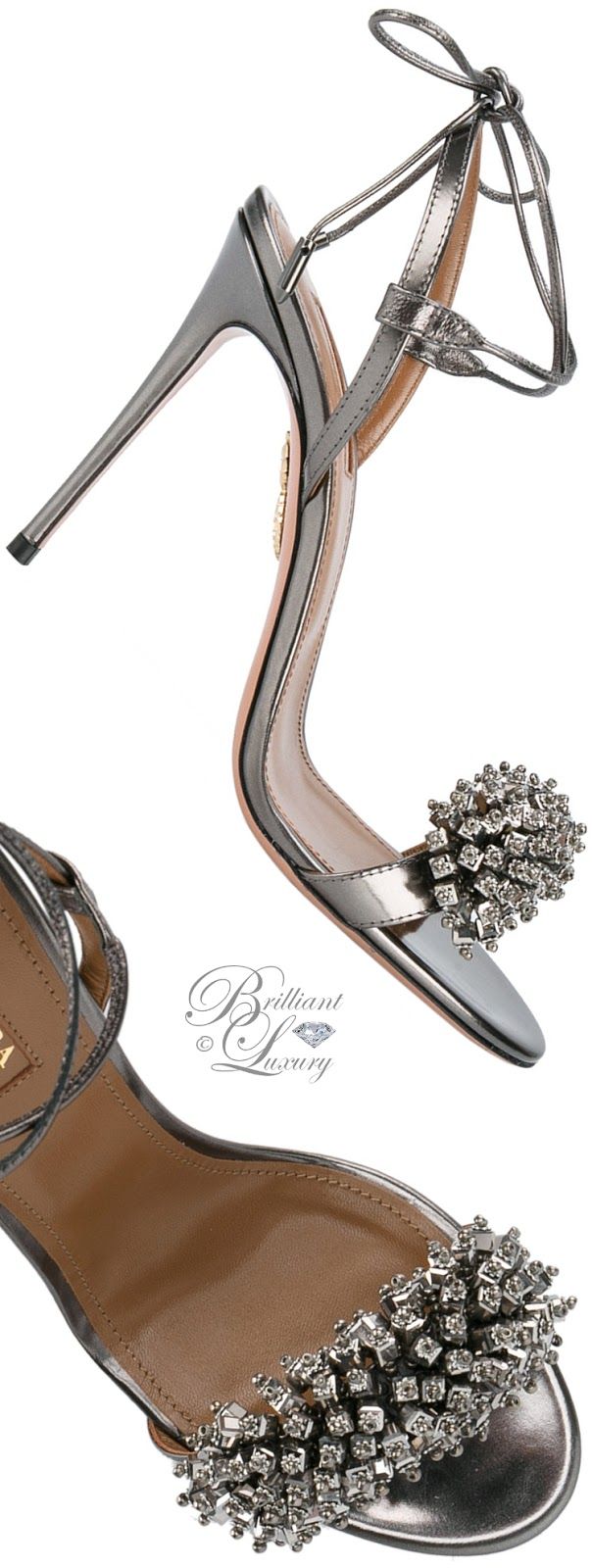 Brilliant Luxury ♦ Aquazzura Crystal-Embellished Monaco Sandals