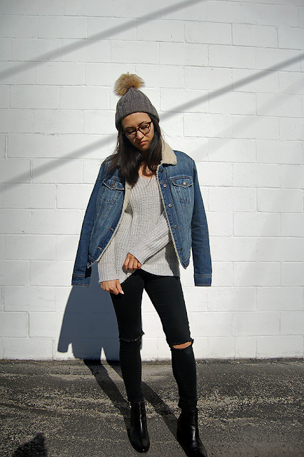 Shearling Denim Jacket