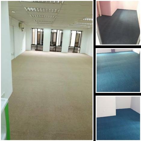 Contoh 5 : Karpet Pejabat jenis Plain Carpet (kosong) Roll begini sangat laris dan selalu ditempah.