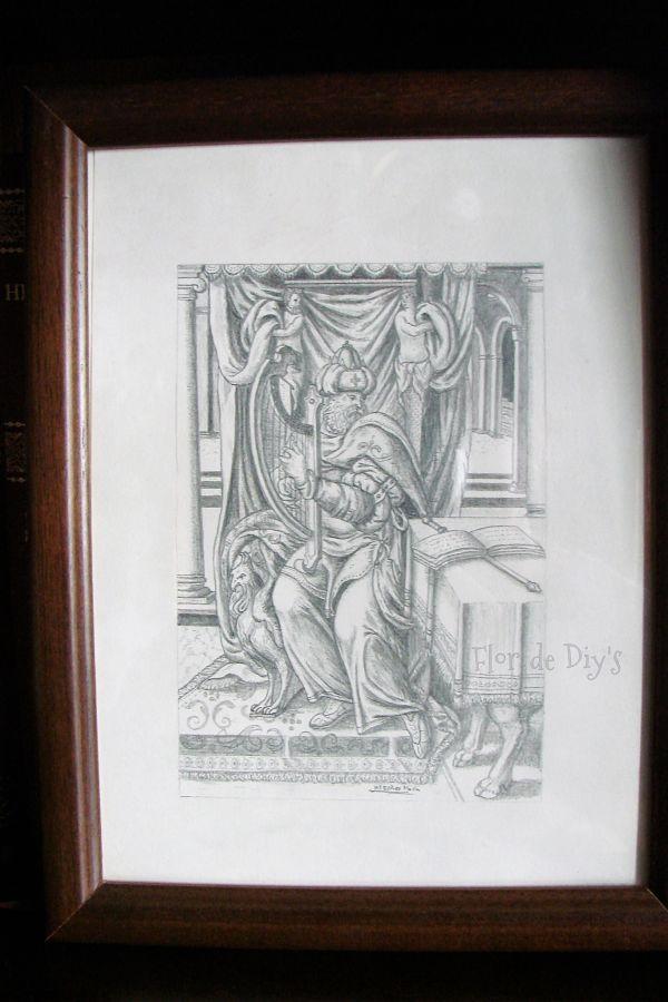 dibujo-lapiz-rey-david-flor-de-diys