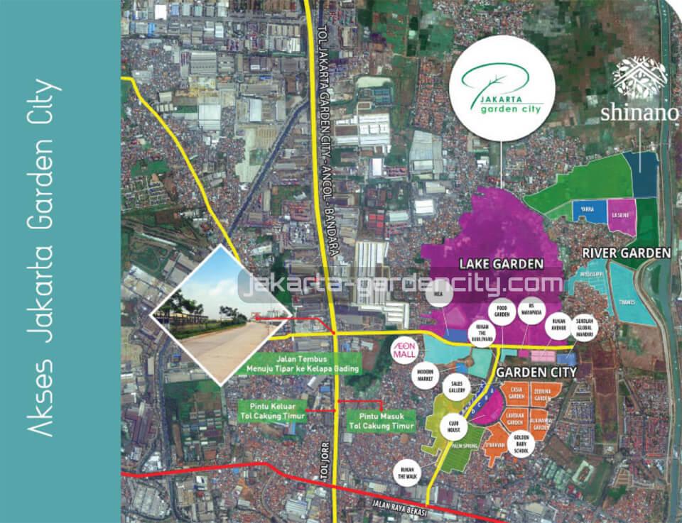 Lokasi Cluster Shinano @ Jakarta Garden City