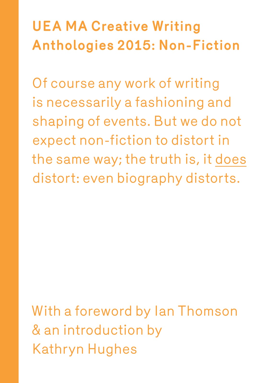 UEA Creative Writing Anthology Non-Fiction 2015