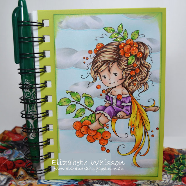 Elizabeth Whisson, Alshandra, Whimsy Stamps, Rowan Fairy, Copic markers, Copic, Sketch, clouds, stickles