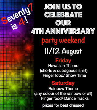 4th Anniversary Party- 11/12 August
