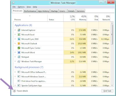Nuevo Administrador de Tareas de Windows 8