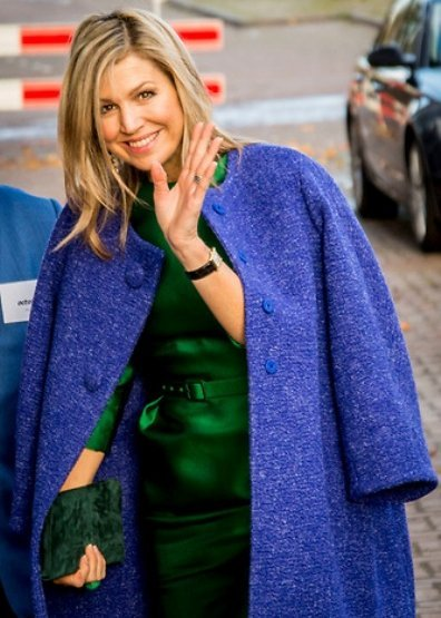 Queen Maxima wore Natan Coat - Fall - Winter 2018 collection