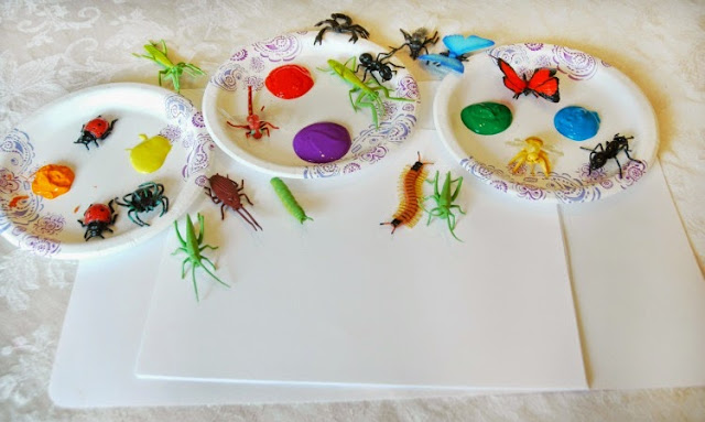 Materials for insect painting