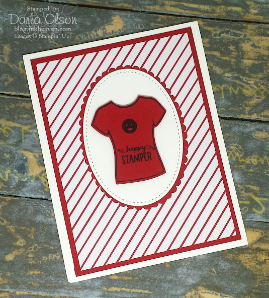 Handmade card created with Designer Tee and Custom Tee shared by Darla Olson at inkheaven
