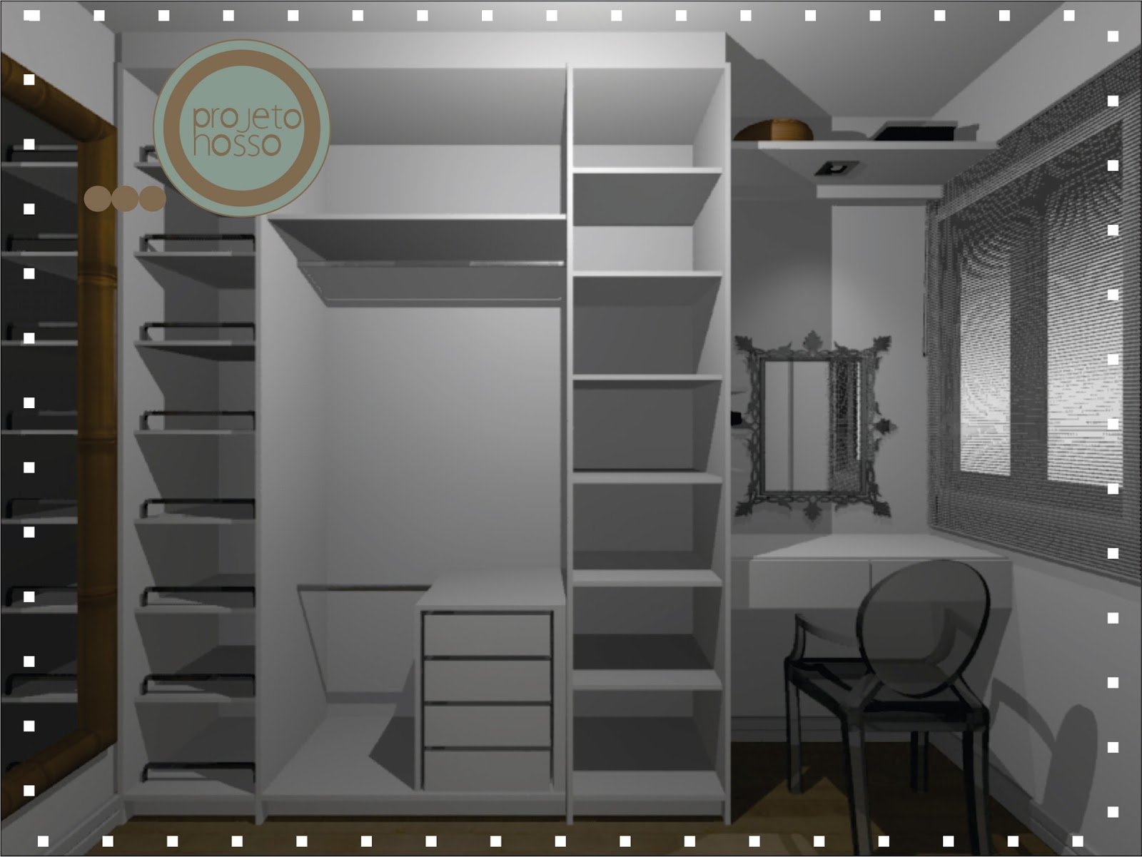 Mariana Diniz Arquiteta ~ Tamanho Ideal Quarto Casal Closet