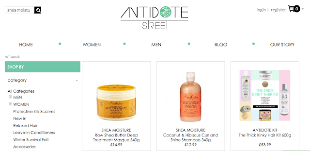 Shea Moisture at Antidote Street