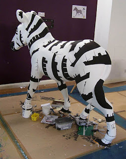 zany zebra work in progress Davey