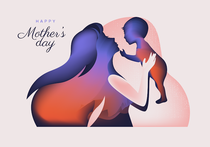 Mothers Day Silhouette Vector Abstract free vector