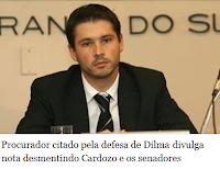 Procurador citado pela defesa de Dilma divulga nota desmentindo