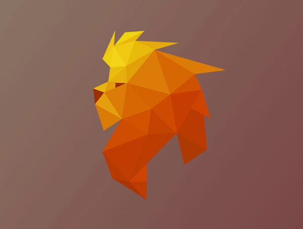 Kumpulan Desain Logo Low Poly - Lion dOc Low Polygon Logo