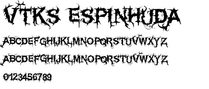 Vtks espinhuda font