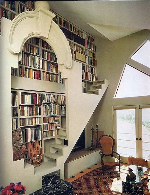 Window Side Vertical Wall Height Library - Image: Pinterest Community