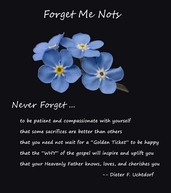 Buy Me Flowers Quote: And Spiritually Speaking: Forget-Me-Not, By Elder Dieter F