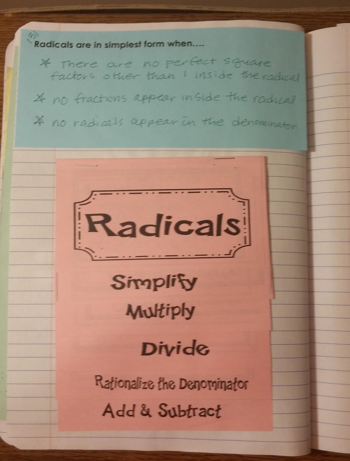 Beautiful Math Simplifying Radicals