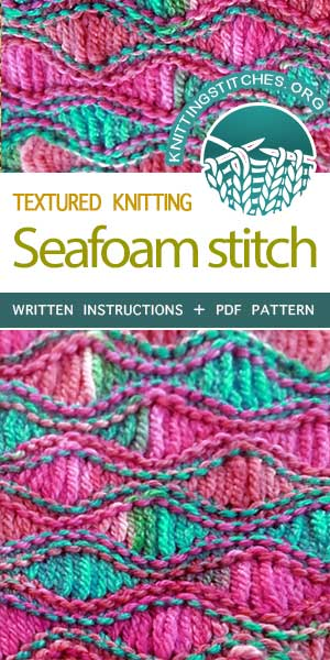 nitting Stitches -- Learn How to Knit a Sea Foam-Stitch Scarf .#KnittingPatterns