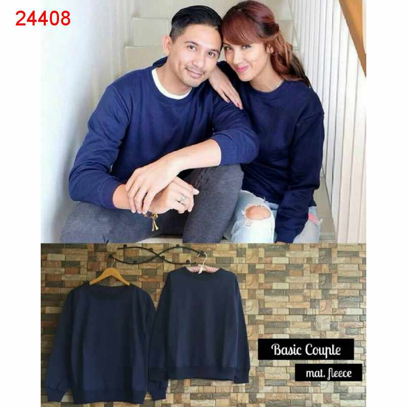 Jual Sweater Couple Sweater Basic Navy - 24408