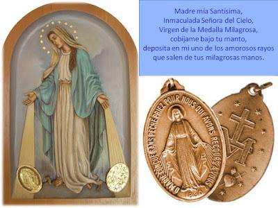 Resultado de imagen para medalla milagrosa oracion