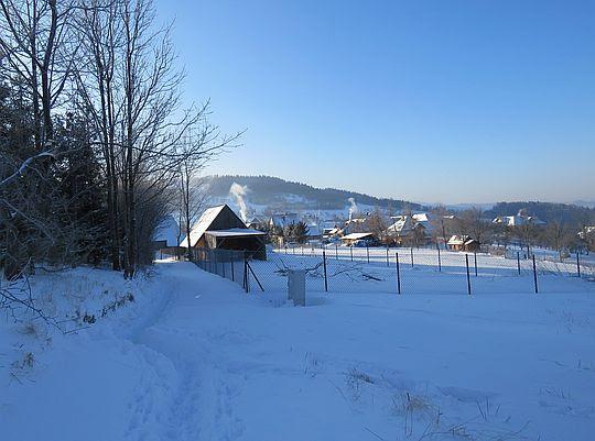 Wejście do wsi Podobin.