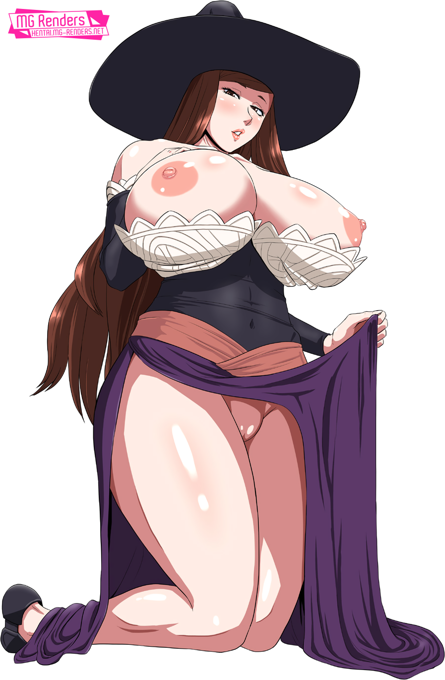 Tags: Anime, Render,  Dragons Crown,  Sorceress, PNG, Image, Picture