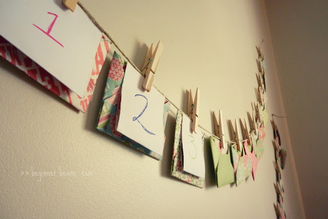 counting down to christmas with an envelope advent calendar