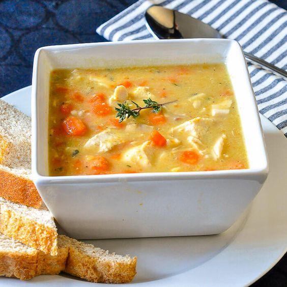 Leftover Chicken Lentil Soup
