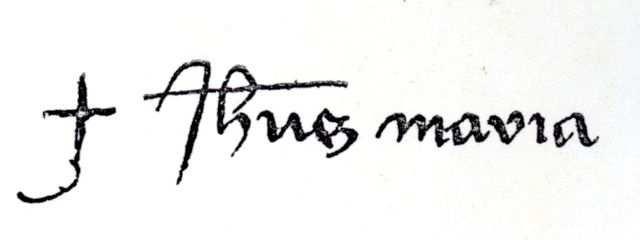 Jesus Maria, assinatura de Santa Joana d'Arc
