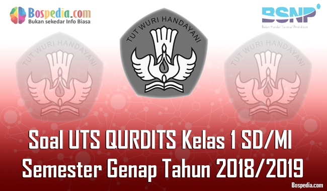 Lengkap Contoh Soal Uts Qurdits Kelas 1 Sd Mi Semester Genap Tahun 2018 2019 Bospedia