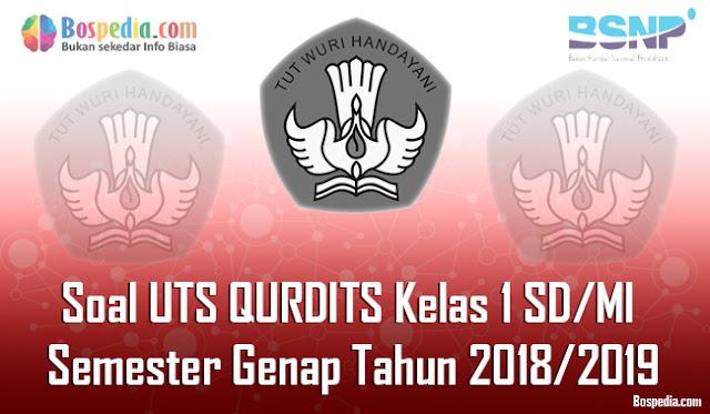 Lengkap - Contoh Soal UTS QURDITS Kelas 1 SD/MI Semester Genap Tahun 2018/2019