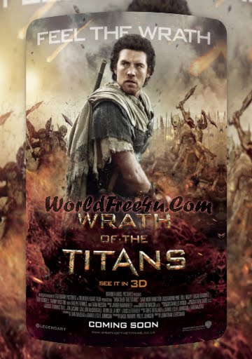 Poster Of Wrath Of The Titans 2012 In Hindi Bluray 720P Free Download