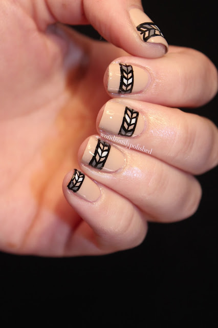 Wondrously Polished February Nail Art Challenge: Wondrously Polished: Simple Tribal Print & Zoya's Avery